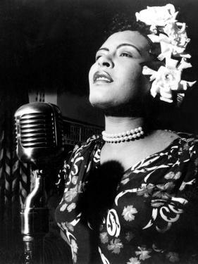 Jazz and Blues Singer Billie Holiday (1915-1959) in the 40's