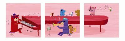 Jazz Critters Triptych