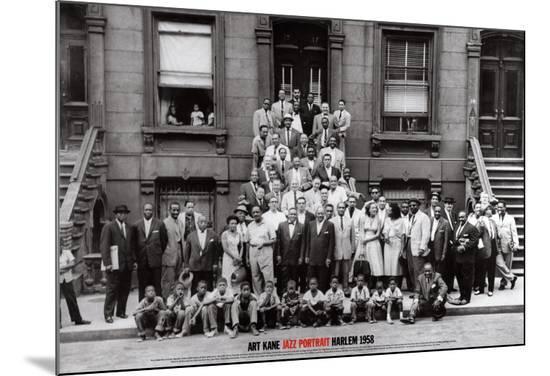Jazz Portrait - Harlem, New York, 1958-Art Kane-Mounted Print