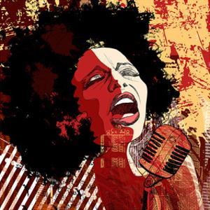 Jazz Singer Grunge Background