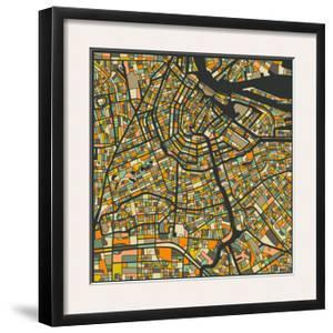 Amsterdam Map by Jazzberry Blue