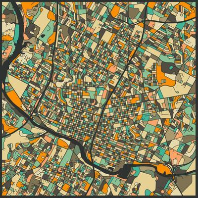 Austin Map by Jazzberry Blue