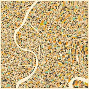 Bangkok Map by Jazzberry Blue