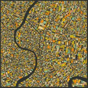 Bangkok Map by Jazzberry Blue