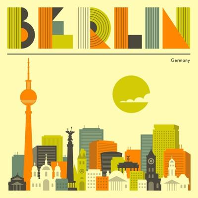 Berlin Skyline by Jazzberry Blue