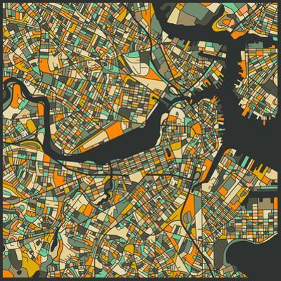 Boston Map by Jazzberry Blue