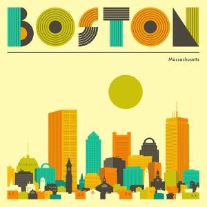 Boston Skyline by Jazzberry Blue