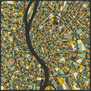 Budapest Map by Jazzberry Blue