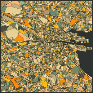 Dublin Map by Jazzberry Blue
