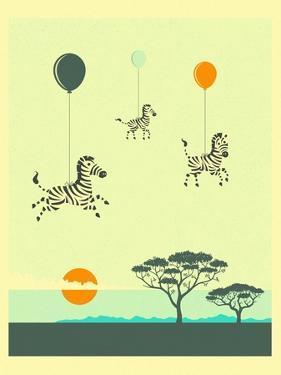 Flock of Zebras by Jazzberry Blue