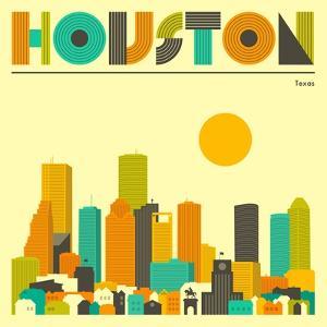 Houston Skyline by Jazzberry Blue
