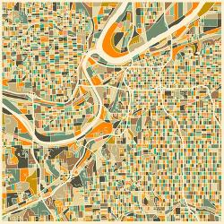 Affordable Maps of Kansas City, MO Posters for sale at AllPosters.com