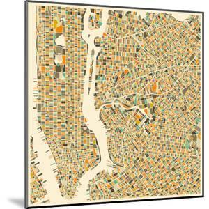 Manhattan Map by Jazzberry Blue
