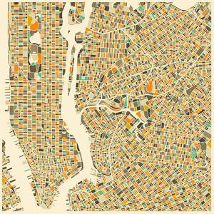 Manhattan Map by Jazzberry Blue