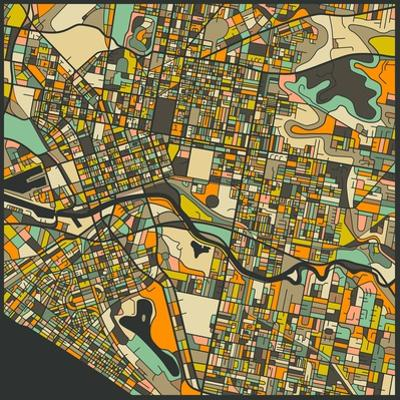 Melbourne Map by Jazzberry Blue