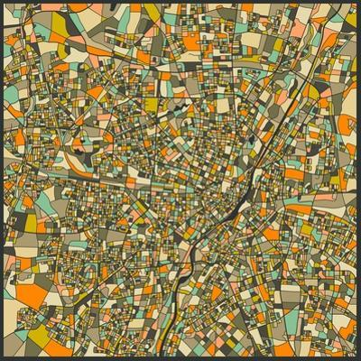 Munich Map by Jazzberry Blue