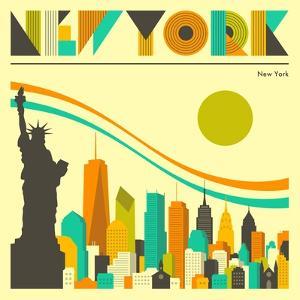 New York Skyline by Jazzberry Blue