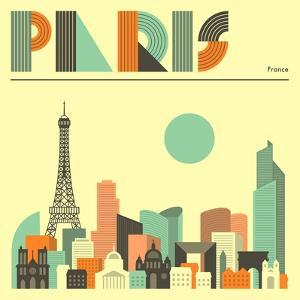 Paris Skyline by Jazzberry Blue