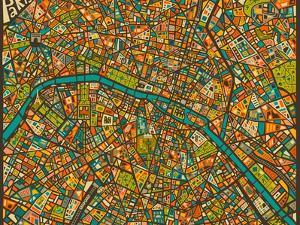 Paris Street Map by Jazzberry Blue