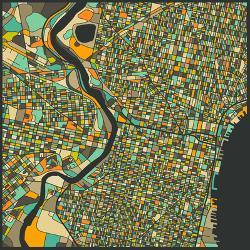 Affordable Maps of Philadelphia, PA Posters for sale at AllPosters.com