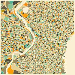 Affordable maps of philadelphia pa posters for sale at allposters philadelphia map by jazzberry blue freerunsca Gallery