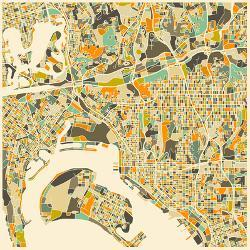 Affordable Maps of San Diego, CA Posters for sale at ...