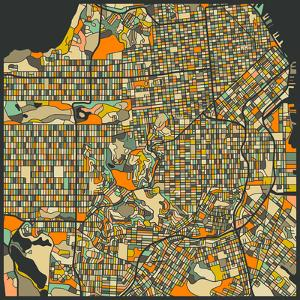 San Francisco Map by Jazzberry Blue