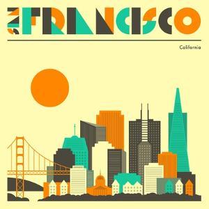 San Francisco Skyline by Jazzberry Blue