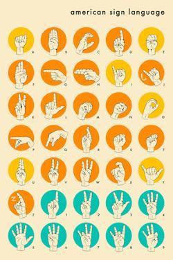 Sign Language Hand Alphabet by Jazzberry Blue
