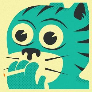 Smoking Cat by Jazzberry Blue