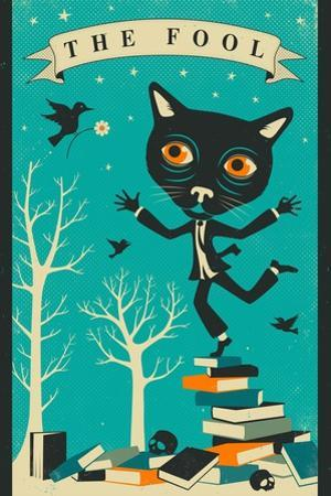 Tarot Card Cat: The Fool by Jazzberry Blue