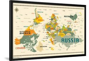 World Map Upside Down by Jazzberry Blue
