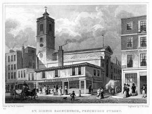 Church of St Dionis Backchurch, Fenchurch Street, City of London, 19th Century by JB Allen