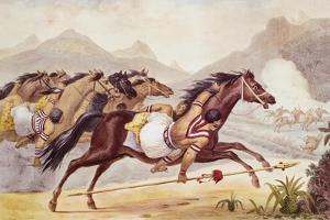 Guaycuru Indians on Horseback by JB Debret