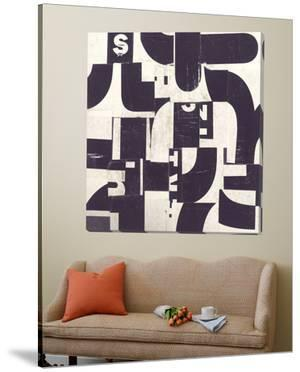 Collaged Letters Purple D by JB Hall