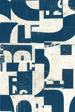 Collaged Letters Teal F by JB Hall