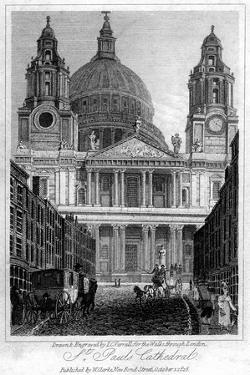 St Paul's Cathedral, London, 1816 by JC Varrall