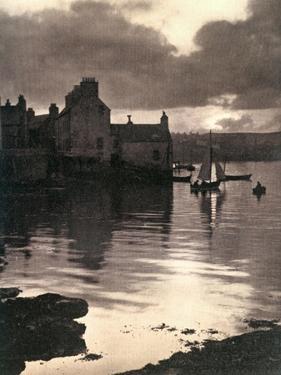 Lerwick Harbour, Shetland, Scotland, 1924-1926 by JD Rattar