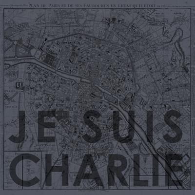 Je Suis Charlie - Map of Paris, France
