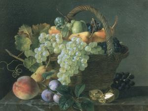 Still Life with Fruit by Jean A. Mouchet