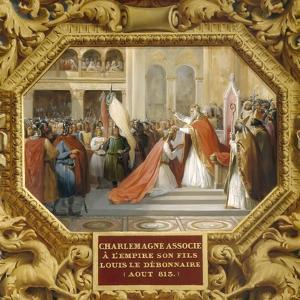 Charlemagne Crowns His Son Louis the Pious in 813 by Jean Alaux