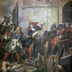 Louis XIV Leads the Assault of Valenciennes, 17th Century by Jean Alaux