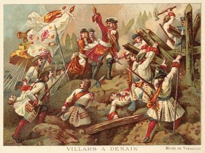 Marshal Villars at the Battle of Denain, France, 1712