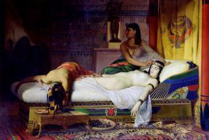 Death of Cleopatra, 1874 by Jean André Rixens