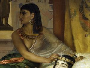 Death of Cleopatra, Detail by Jean Andre Rixens
