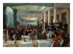 Dejeuner du Salon au Cafe la Cascade by Jean Andre Rixens