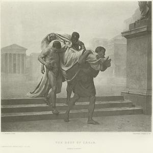 The Body of Caesar by Jean-Andre Rixens