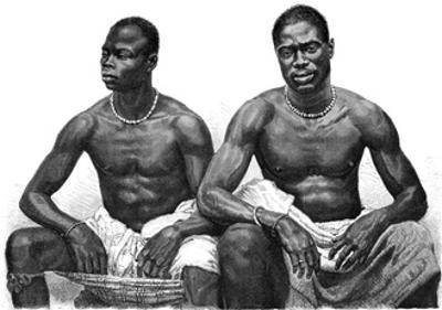 Two Men from Assinie, Guinea, C1860-1920