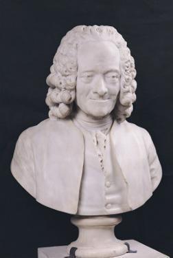 Bust of Francois Marie Arouet De Voltaire (1694-1778) 1778 by Jean-Antoine Houdon