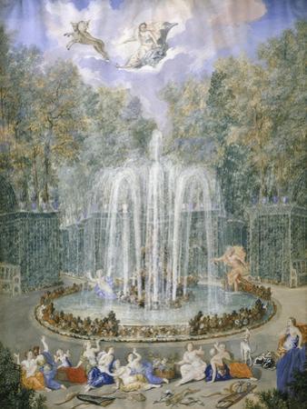 France, Versailles, Fountain in Gardens